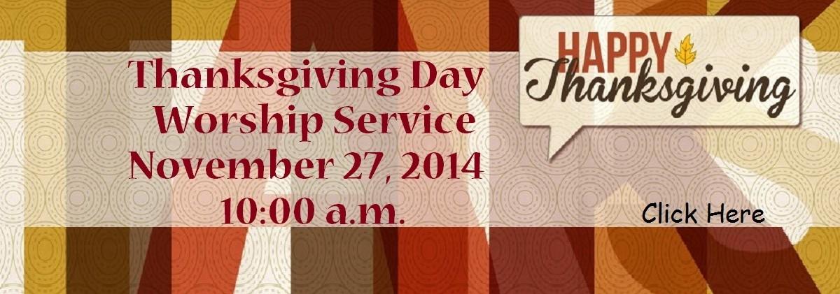Thanksgiving Website Banner
